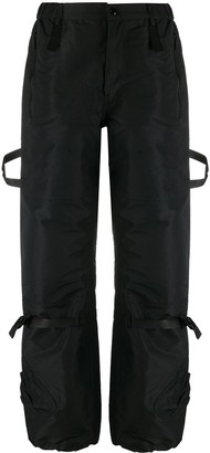 No.21 Side-Strap Cropped Cargo Trousers