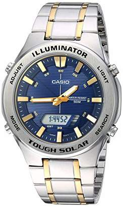 Casio Men's Tough Solar Quartz Watch with Stainless-Steel Strap