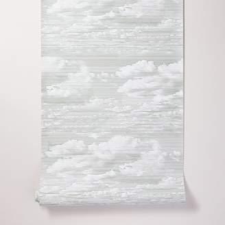 west elm Etched Clouds Print Wallpaper