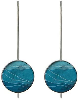 Skagen Agnethe Silver-Tone Stainless Steel and Mother-of-Pearl Earrings (Silver-SKJ1340040) Earring