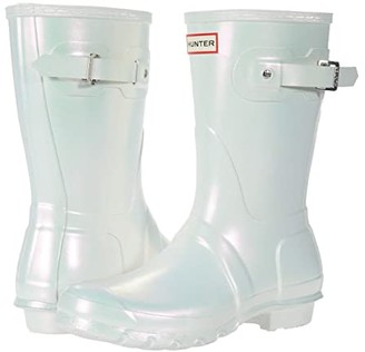 Hunter Short Nebula (Silver) Women's Rain Boots