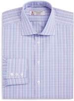 Turnbull & Asser Micro Textured Overcheck Regular Fit Dress Shirt