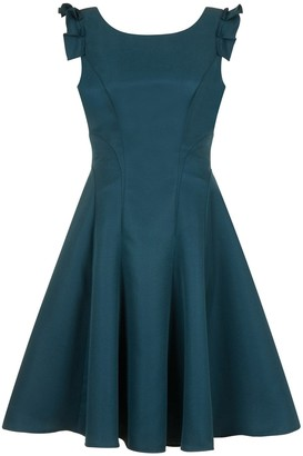 Evans **Chi Chi London Teal Blue Skater Dress