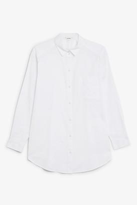 Monki Oversized cotton shirt