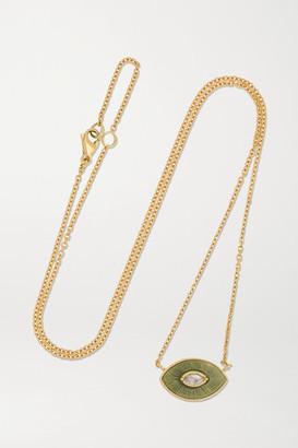 Brooke Gregson Talisman 18-karat Gold, Enamel And Diamond Necklace