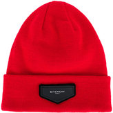 Givenchy patch detail beanie - women - Acrylic - One Size