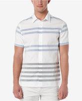 Perry Ellis Men's Horizontal Striped Short-Sleeve Shirt