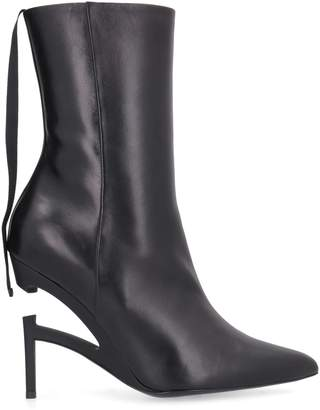 Taverniti So Ben Unravel Project Leather Pointy-toe Ankle-boots