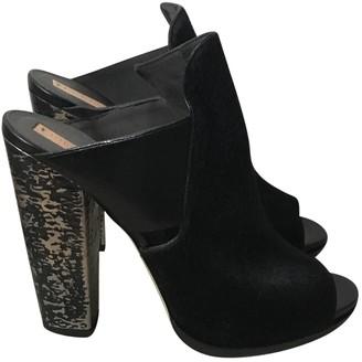 Reed Krakoff Black Pony-style calfskin Sandals