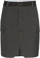 Rentrayage pinstripe mini skirt