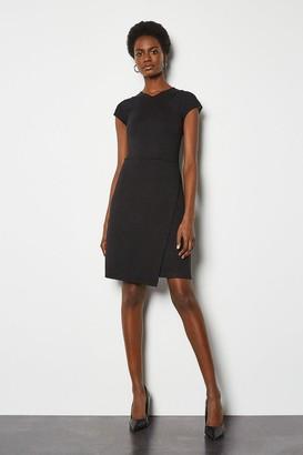 Karen Millen Mesh and Jersey Mix Dress