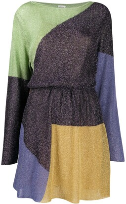 M Missoni Fine-Knit Lame Dress