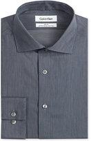 Calvin Klein STEEL Men's Slim-Fit Non-Iron Performance Micro-Stripe Dress Shirt