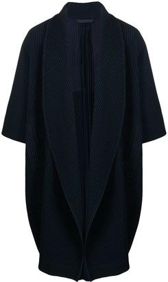 Homme Plissé Issey Miyake Oversized Pleated Cardi-Coat