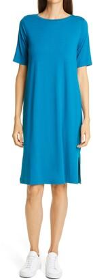 Eileen Fisher Stretch Tencel Lyocell T-Shirt Dress