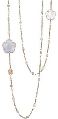 Pasquale Bruni Bon Ton 18K Rose Gold, Chalcedony, Quartz & Diamond Chain Necklace
