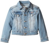 Hudson Denim Jacket with Applique Banner and Embroidery (Toddler/Little Kids)