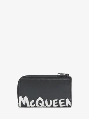 Alexander McQueen McQueen Graffiti Large Zip Coin Card Holder