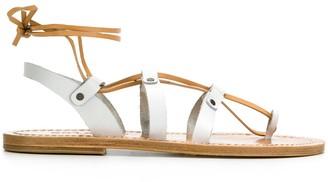 Solange multi-strap ankle tie sandals