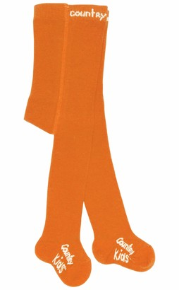 Country Kids Girl's C005 Orange Socks One (Size:1-3 Yrs)