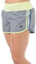 adidas Womens Aktive 3 Stripe M10 Marathon ClimaLite Running Shorts Grey/Frozen Yellow
