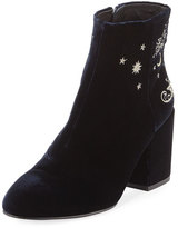 Ash Elixir Embroidered Velvet Boot, Black