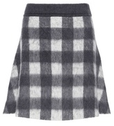 Balenciaga Wool and mohair-blend A-line skirt
