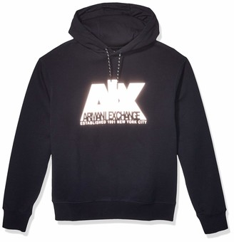 A|X Armani Exchange Men's Cotton Polyester Fleece Pullover Hoodie