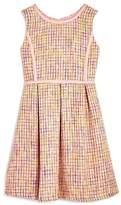 Us Angels Girls' Tweed Fit & Flare Dress - Big Kid