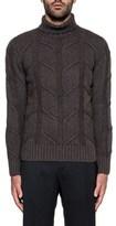 H953 Men's Grey Wool Sweater.