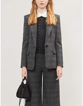 Maje Vanda houndstooth check pattern blazer