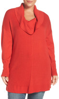Sejour Cowl Neck Tunic Sweater (Plus Size)
