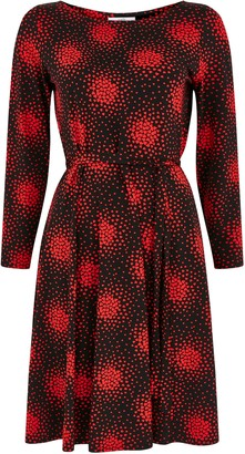 Wallis PETITE Heart Print Fit and Flare Dress