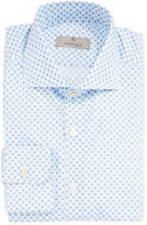 Canali Men's 2-Ply Medallion Dress Shirt