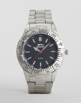 Slazenger Silver Bracelet Watch With Silver Case