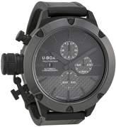 U-Boat U Boat Classico Black Carbon Fiber Dial Ceramic Black Rubber Men's Watch