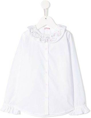 Il Gufo Embroidered Collar Shirt