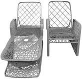 One Kings Lane Vintage Spun Chaise Longue & Armchair