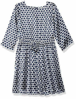 LOOK by Crewcuts Girls' Drapey Long Sleeve Dress