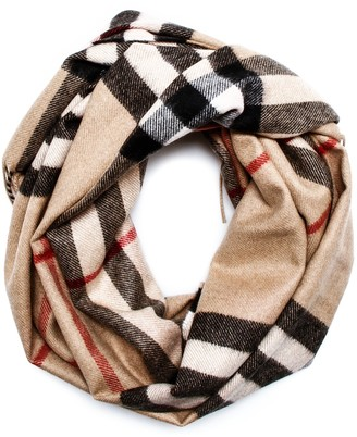 Burberry Heart Print Checked Scarf