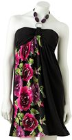 Iz Byer california floral halter dress