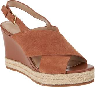 Halston H By H by Slingback Crossover Espadrille Wedges - Stella
