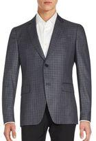 John Varvatos Austin Fit Check Virgin Wool & Silk Sportcoat