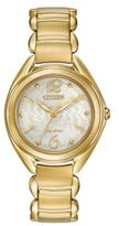 Citizen Eco-Drive Stainless Steel Floral Dial Bracelet Watch