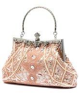 TopTie Bead Handbag Evening Bag with Cute Stud, Hidden Handle