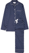 Three J NYC Jamie Printed Cotton-poplin Pajama Set - Storm blue
