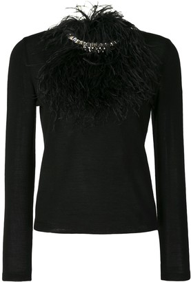 Giambattista Valli Feather-Embellished Jumper