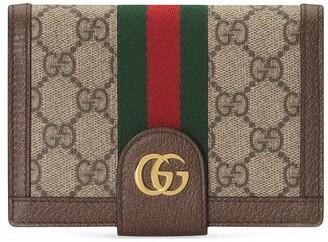 Gucci Monogram Print Passport Case