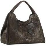 Nada Sawaya Wynn Wynn Large Hobo Bag Laser Cut Leather Tabacco.