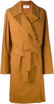 Lemaire dislocated fastening midi coat - women - Cotton - 36